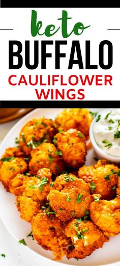 I really want to try new low carb appetizer recipes and this Keto Buffalo Cauliflower Wings Recipe looks so good! I can't wait to cook this easy side for my family. It looks like the perfect keto . SO PINNING! #kickingcarbs #lowcarb #keto #lchf #ketorecipes #cauliflower