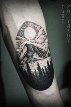 40 Lake Tattoo Designs For Men - Nature Ink Ideas Tattoo - 40 lake tattoo designs for men – nature ink ideas - Body Art Tattoos, New Tattoos, Sleeve Tattoos, Cool Tattoos, Feather Tattoos, Lake Tattoo, Tattoo Son, Cabin Tattoo, Tattoo Forearm