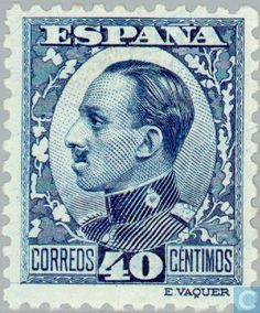 1930 - King Alfonso XIII 40 - stamp - Spain [ESP]