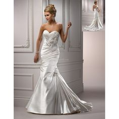 Search Used Wedding Dresses & PreOwned Wedding Gowns For Sale Satin Mermaid Wedding Dress, Cute Wedding Dress, Sweetheart Wedding Dress, Bridal Wedding Dresses, Wedding Dress Styles, Designer Wedding Dresses, Wedding Corset, Mermaid Sweetheart, Designer Gowns
