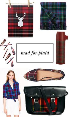 Color Trend: Mad for Plaid Fall plaid accessories