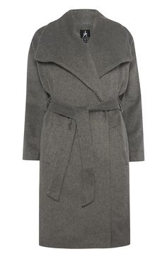 Primark - Grey Longline Drawn Wrap Coat