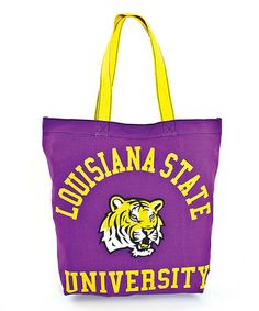 This LSU Tigers Tote is perfect! #zulilyfinds