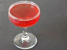 Pom Pomme 2 ounces pomegranate juice 2 ounces ginger liqueur, such as Domaine de Canton 1 ounce apple brandy, such as Laird's Apple Brandy 100 proof 2 ounces Crispin original cider
