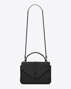 eb927ce22353 medium collège bag in black matelassé leather. Ysl CollegeCollege BagsSaint  Laurent ...