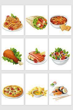 Cute Food Drawings, Cute Animal Drawings Kawaii, Gourmet Food Plating, Salmon Eggs, Food Clipart, Cute Food Art, Food Cartoon, Food Stickers, Coffee Logo