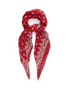Bandana-print cashmere and silk-blend scarf | Saint Laurent | MATCHESFASHION.COM UK