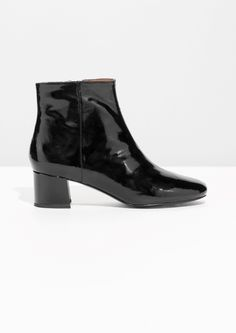 Other Stories image 1 of Naplack Ankle Boots in Black