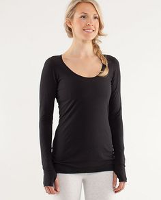 Lululemon - My Mantra LS Tissue Tee with Thumbholes. I am OBSESSED with thumb holes!!!!!
