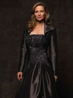 A-Line/Princess Strapless Floor-Length Satin Mother of the birde Dress