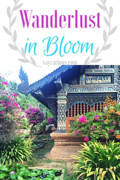 Wanderlust in Bloom. Pictures of beautiful gardens and colourful flowers in exotic destinations from Budapest to Thailand to Bali. Travel Photography. http://vaycarious.com/2017/02/01/flowers/