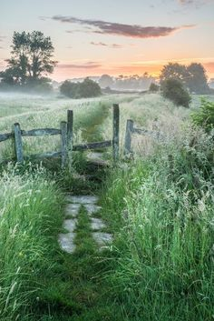 Beautiful vibrant Summer sunrise over English countryside by Matt Gibson