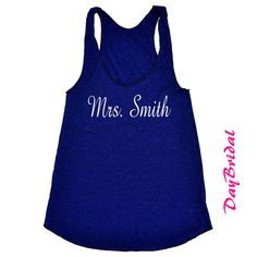 MRS Tank Top with PERSONALIZED Name