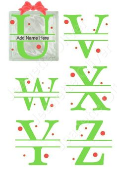U to Z Split Alphabet suitable for Glass Blocks, Cards and Framing SVG Digital Cutting File. by CraftaholicCreation on Etsy