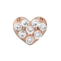 Crystal Rose Gold Heart Charm | Every Locket Tells a Story. #whatsyourstory #lovestory #origamiowl http://staciemarshman.origamiowl.com/sites/staciemarshman/pwpshowproduct.aspx?programcategoryid=2&programproductid=652 https://www.facebook.com/OrigamiOwlByStacie