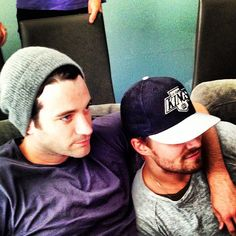 Tommy and Ollie watching a match  ARROW (CW) [Stephen Amell & Colin Donnell ]