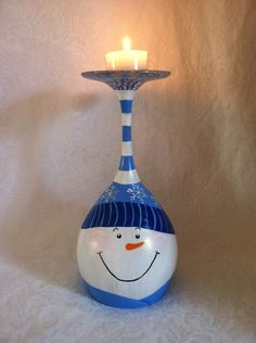 Snowman Candle Stand by neatstuf on Etsy