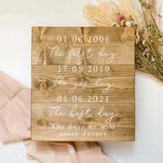 Wood Wedding Signs, Wood Signs, Wedding Gifts, Wedding Day, Country Barn Weddings, We Will Never Forget, Guest Book Alternatives, Dating Again, Wedding In The Woods