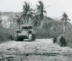 Tank photo Guam WW2
