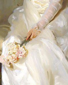 John Singer Sargent, Mrs Joshua Montgomery Sears (detail), 1899.