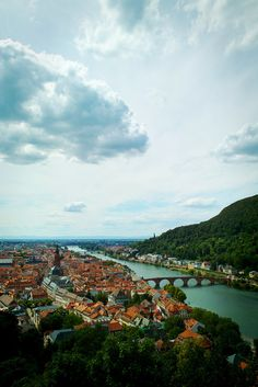Heidelberg, Baden-Wurttemberg, Germany - View from the castle's park.