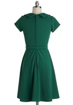 To a Tee Time Dress in Green, #ModCloth