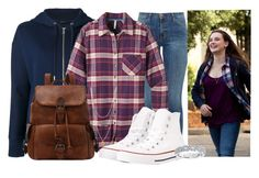 """Hannah Baker"" by princessmikyrah ❤ liked on Polyvore featuring Polo Ralph Lauren, Current/Elliott, Mountain Khakis, Converse, Flint & Mortar, Karl Lagerfeld and 13reasonswhy"
