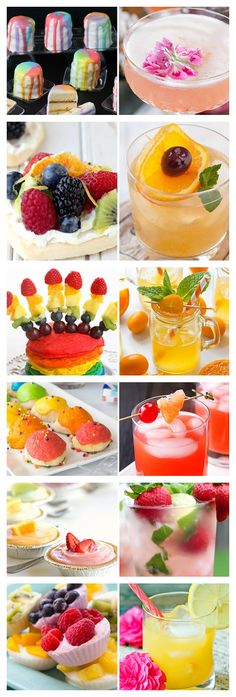 Go full rainbow at your next brunch with these fruity, colorful combos!
