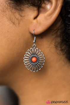 Forever and A Daisy Orange Earring