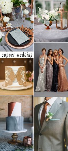 metal copper wedding themes for 2017