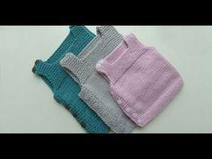 Yandan Düğmeli Kolay Bebek Yeleği Nasıl Yapılır? (Baştan Sona Anlatım) - örgü modelleri - knitting - YouTube