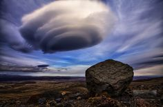 Alvord Desert, Oregon Mostly seen above mountains or hills, lenticular clouds are extraordinary clouds that, due to their smooth, saucer-like shape, are of