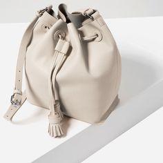 SOFT TASSEL BUCKET BAG from Zara SALE