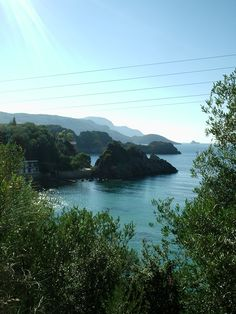 Corfu - one of the greenest of the Greek islands. Paleokastritsa is the most beautiful part of the island.