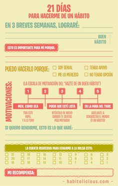 21 días para hacerme un # hábito # Infografía - **O** - Burn Out, Study Tips, Herbalife, Better Life, Self Improvement, Good To Know, Leadership, Knowledge, Positivity