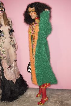 Get a detailed look backstage at Gucci's Fall 2016 fashion show