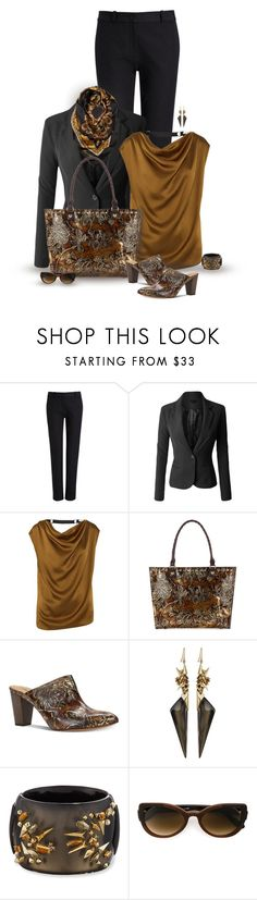 """""""set"""" by vesper1977 ❤ liked on Polyvore featuring Joseph, LE3NO, Lanvin, Patricia Nash, Alexis Bittar and Martha Medeiros"""