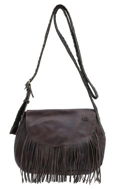 Bed|Stu Brown Eastend Fringed Leather Cross Body Purse