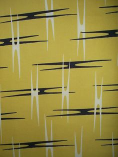 Vintage 1950's Fabulous Atomic Propellor Print Unused Remnant Barkcloth Fabric | eBay