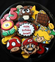 Super Mario Bros cookies by eliza