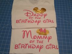 Mouse silhouette Mommy Daddy of the by WestEnderleBoutique on Etsy