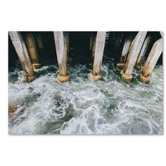 "Trademark Art Monterey Pier by Ariane Moshayedi Photographic Print on Wrapped Canvas Size: 22"" H x 32"" W x 2"" D"