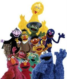 Sunny days sweeping the clouds away on my way to where the air is sweet can you tell me how to get, how to get to Sesame Street Seasame Street!