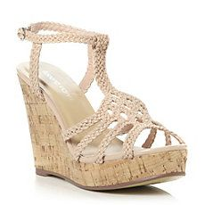 GUSTAVA - Plait Strap Design Wedge Heeled Sandal