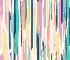Brush Stroke_Stripe fabric by crystal_walen on Spoonflower - custom fabric
