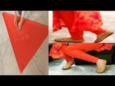Sewing Cushions Churidar Pajami Cutting and Stitching in Easy Way Sewing Hacks, Sewing Tutorials, Sewing Projects, Sewing Ideas, Stitching Classes, Salwar Kameez Neck Designs, Dress Neck Designs, Blouse Designs, T Shirt Tutorial