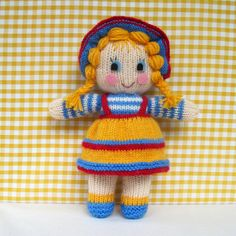 Sunny Sally knitted toy doll INSTANT DOWNLOAD PDF ♡ by toyshelf