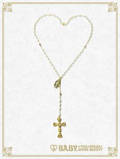 Baby, the stars shine bright St.Mary Holy Card Rosario necklace