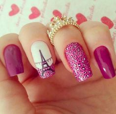 Hey there lovers of nail art! In this post we are going to share with you some Magnificent Nail Art Designs that are going to catch your eye and that you will want to copy for sure. Nail art is gaining more… Read more › Cute Nail Art, Beautiful Nail Art, Cute Nails, Pretty Nails, Beautiful Paris, Fabulous Nails, Perfect Nails, Gorgeous Nails, Fancy Nails