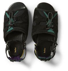 Kolor - Leather and Mesh Sandals MR PORTER
